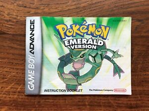 Pokemon Emerald Version Gameboy Advance Instruction Manual Only
