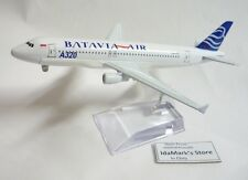 BATAVIA AIR AIRLINES Y6 Die cast Model Airbus A320-231 PK-YVE 14cm Plane