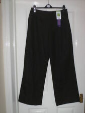 Marks and Spencer Cotton Wide Leg Regular Trousers for Women