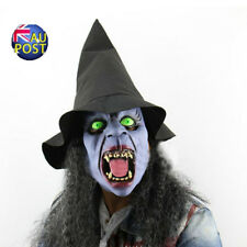 16.96Scary Witch Tusk Female Halloween Carnival Latex Mask+Hat Wig Masquerade MN