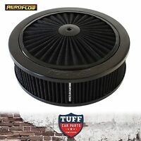 "Aeroflow Black Full Flow Air Cleaner Assembly 9"" x 2-34"" with Washable Filter"