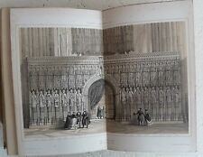 Vintage Book c1850 York Cathedral Ayliffe Poole Hugall Church History Engravings