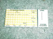 1985 Pittsburgh Pirates v Montreal Expos Baseball Ticket Andre Dawson Hit 8/2