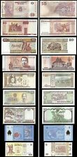 WORLD BANK NOTE 9 DIFFERENT TYPES OF COUNTRY & CURRENCY L@@K GOOD CONDITION