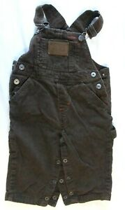 Pre-Owned Carter's Watch The Wear Toddler Boys 18M  Brown Corduroy Bibs/Overalls