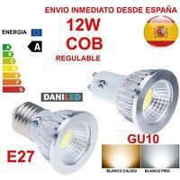 BOMBILLA LED 12W GU10 E27 CHIP COB TIPO FOCO (ENVIO DESDE ESPAÑA)