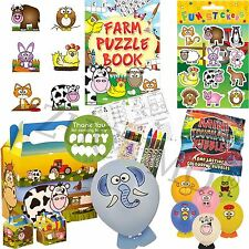 Farm Pre Filled Childrens Kids Party Bags - Ready Made Parcels Box Boys Girls