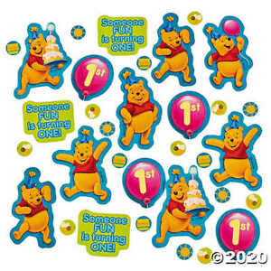 Winnie the Pooh 1st Birthday confetti Boy or Girl Table Decorations Party Supply