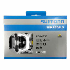 New Shimano Deore PD-M530 Clipless MTB Trail Bike Pedal Set SPD Cleats - White