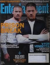 DOMINIC PURCELL & WENTWORTH MILLER PRISON BREAK 2006 ENTERTAINMENT WEEKLY