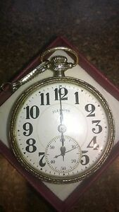 Illinois Antique 1920 Railroad Bunn Special 21 Jewel Pocket watch
