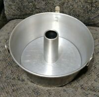"Vtg ~ 10"" MIRRO Aluminum ~ ANGEL FOOD CAKE BUNDT PAN W Legs 5394M ~ Made in USA"