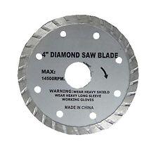 "( 6 - Pc ) New 4"" Diamond Saw Blades Turbo Granite Marble Tile Masonry"