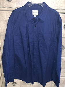 American Eagle Men's Dress Shirt L large- Classic fit- long sleeve Navy blue EUC