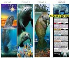 3-Manatee 2020 Calendar Bookmark Mammal Animal Art Wildlife Sea Cow Perfect Gift