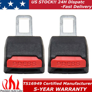 2pack Universal Car Seat Belt Safety Clip Extender Extension Buckle Sound Cutter