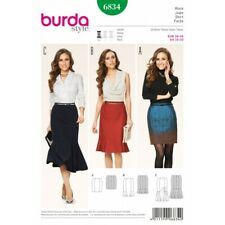 Burda Skirt Sewing Pattern 6834 Style Misses' Three Length Pencil