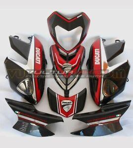 "Kit adesivi cromato rosso Moto Ducati Hypermotard 796/1100 ""V101"""