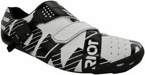 BONT Riot Schnalle Road Cycling Shoe: Euro 48 White/Black