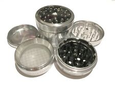 "SharpStone® 2.5"" Inch Version 2.0 4pc Clear Top Herb Large Silver Grinder Extras"
