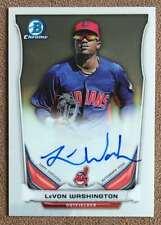 LeVon Washington 2014 Bowman Chrome Prospect Autograph #BCAP-LW Indians Rookie
