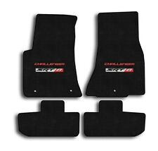 2008-2010 Dodge Challenger - Ebony Velourtex Carpet 4pc Mat Set - SRT 8 Logo