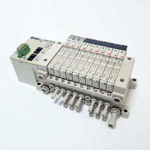 SMC EX120-XSE-LB SOLENOID VALVE SYSTEM w/ VQ1101N-51-Q (3) & VQ1101N-5-Q (7)
