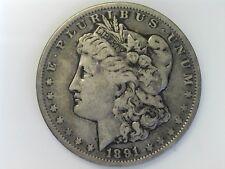 1891 $1 Morgan Silver Dollar