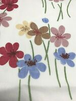 Two Vintage Twin Flat Sheets Pequot No Iron Flower Power Mod Country Match Pair