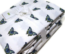 Pottery Barn Multi Colors Butterfly Butter Fly California Cal King Sheet Set New