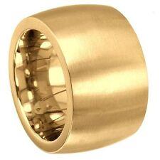 BREITER BANDRING - 15 MM BREIT - 4,2 MM HOCH - EDELSTAHL PVD GOLD - KADO
