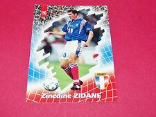 ZINEDINE ZIDANE ZIZOU ZZ N°10 EQUIPE FRANCE 98 BLEUS PANINI FOOTBALL CARD 1998
