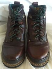 Georgia Giant  Hiking Brown Leather Ankle Ranch Boots G27 Mori Girl Goth 4.5