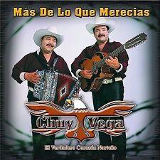 Mas de lo Que Merecias by Chuy Vega (CD, Aug-2002, Univision Records)  NEW