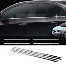 Chrome Window Accent Molding B234 for 2011-2015 Chevrolet Sonic Aveo 4Door Sedan