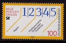 Germania 1993 l'introduzione dei numeri di codice della città SG 2505 Gomma integra, non linguellato