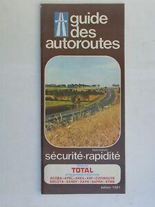 Total - Guide autoroutes Essence Tarifs Péages éd. 1981