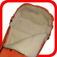 Baby Universal Kinderwagen Fußsack, m.100% Lammwolle, orange