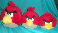 """3 Lot Angry BIrds Red 3 Sizes 8"""" 6"""" 4"""" Plush Yellow Beeks No Sound"""