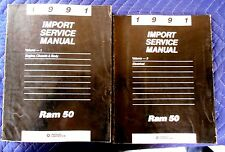 1991 91 Dodge Ram 50 Truck Dealer Shop Service Repair Manual Book