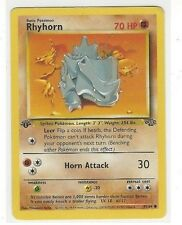 1999 WIZARDS POKEMON 1ST FIRST EDITION JUNGLE SET RHYHORN #61/64 70 HP NON-HOLO