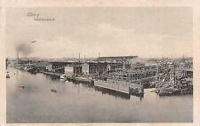 Schichau Werft in Elbing Schiffswerft Postkarte 1917
