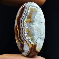 Cts. 28.00 Natural Laguna Lace Agate Cabochon Oval Cab Exclusive Loose Gemstone