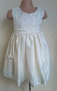 Ivory Cream Flower Girl Bridesmaid Xmas Easter Eid Party Dress 0-24m + Headband
