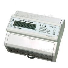 LCD digitaler Drehstromzähler Stromzähler S0 DIN Hutschiene 230/400V 20(80)A