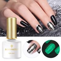 BORN PRETTY 6ml Luminous No Wipe Top Coat UV Gel Polish Soak Off Nail Art Gel