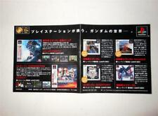 Mobile Suit Gundam 20th PlayStation- Video Game Advert Leaflet, Catalog Paper!