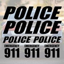 XL SET POLICE Schriftzug Aufkleber Schrift Polizei decal US Decal NYPD LAPD SWAT
