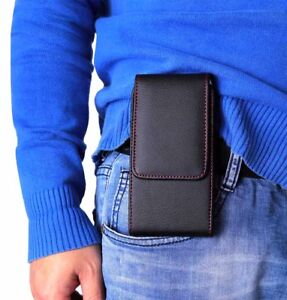 New Belt Holster Magnetic Flip Leather Pouch Case Cover for Mobile Phone