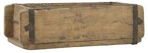 Ziegelform Holzkiste mit Metallbeschlägen 31x15x9 cm  Aufbewahrung Box